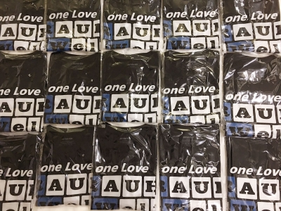 "2017 ""Tokio"" one Love RAUH-Welt Idlers Pullover Hoodie (Blue and White)"